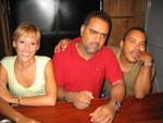 Lourdes López, José Ricardo Aponte (Ricky) y Luis A. Morales (Mamuso)