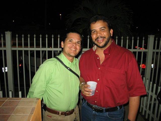 Peter Zambrana y Francisco Pérez (Paquito)