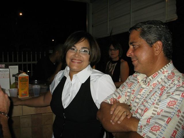 Sandra López y su esposo Julius.